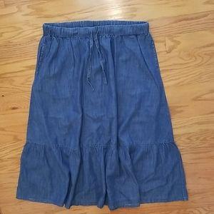 Woman Within Denim Maxi Skirt Size 22W